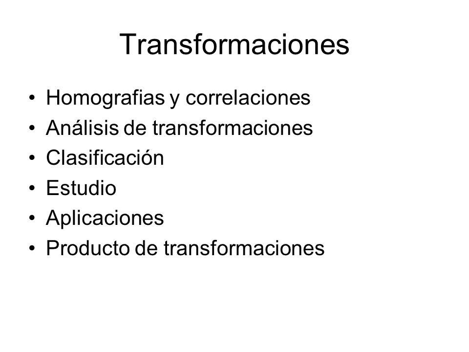 Transformaciones Homografias y correlaciones