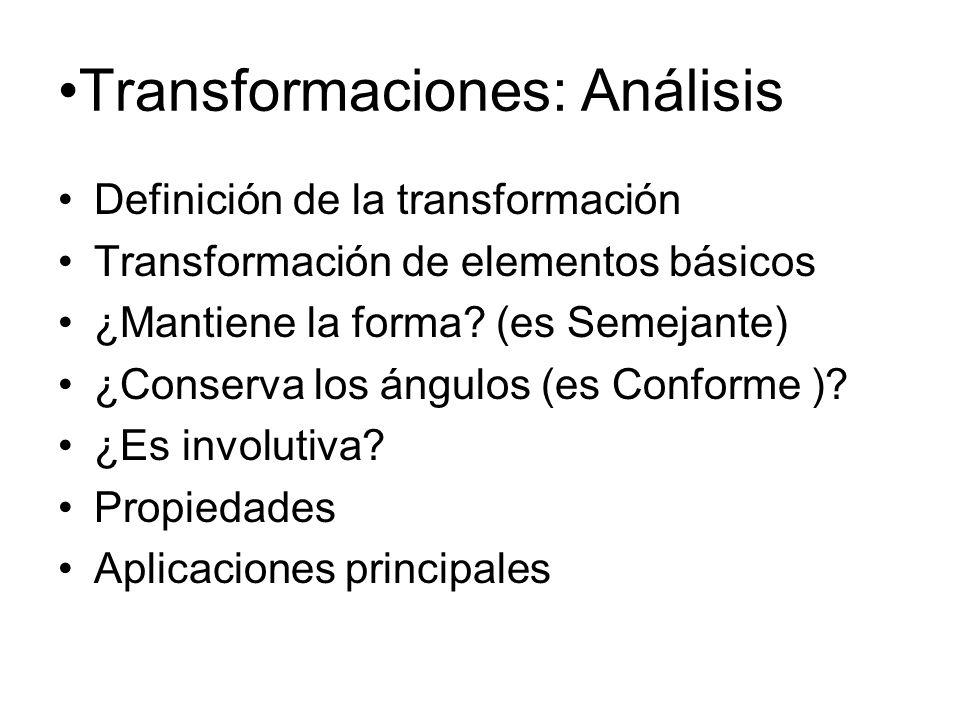 Transformaciones: Análisis