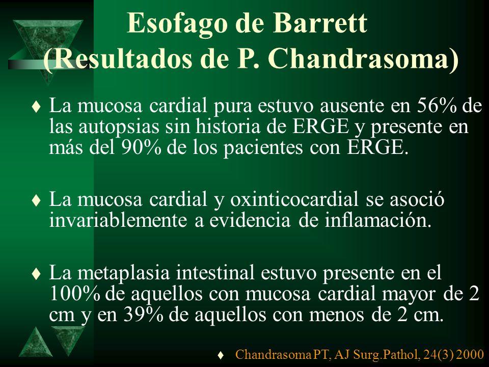 Esofago de Barrett (Resultados de P. Chandrasoma)