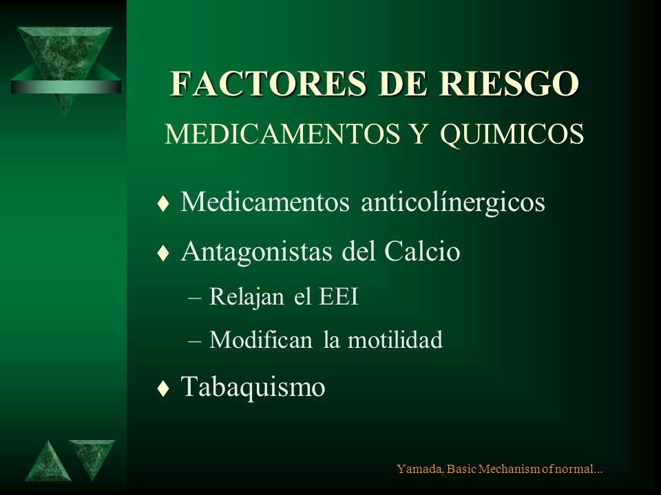 FACTORES DE RIESGO MEDICAMENTOS Y QUIMICOS