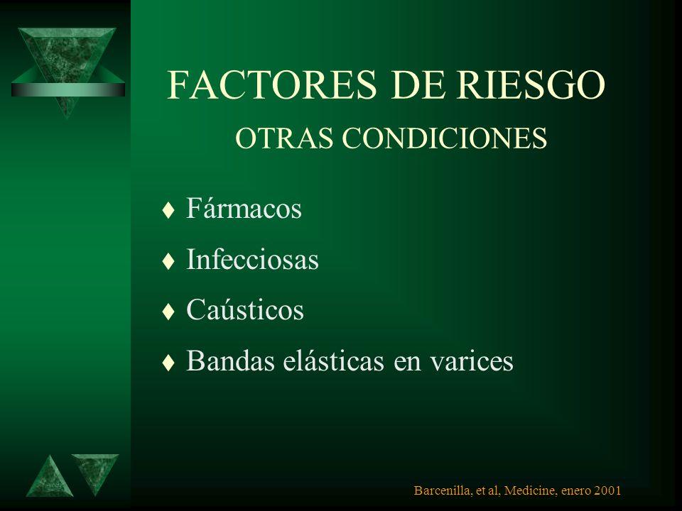 FACTORES DE RIESGO OTRAS CONDICIONES