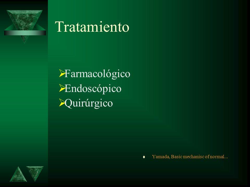 Tratamiento Farmacológico Endoscópico Quirúrgico