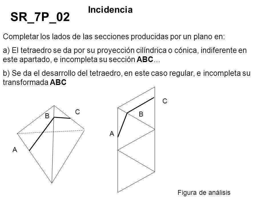 Incidencia SR_7P_02. Completar los lados de las secciones producidas por un plano en: