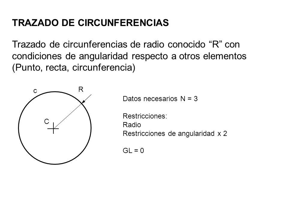 TRAZADO DE CIRCUNFERENCIAS