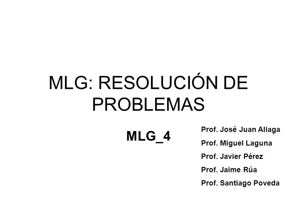 MLG: RESOLUCIÓN DE PROBLEMAS