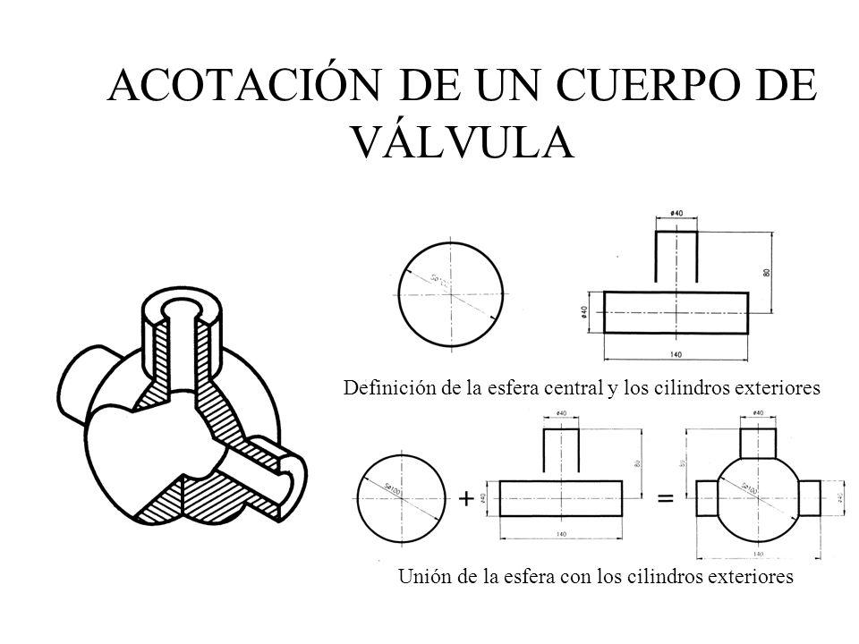 ACOTACIÓN DE UN CUERPO DE VÁLVULA