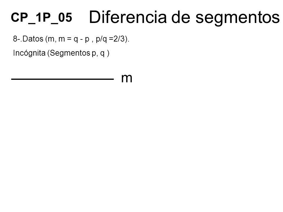 Diferencia de segmentos