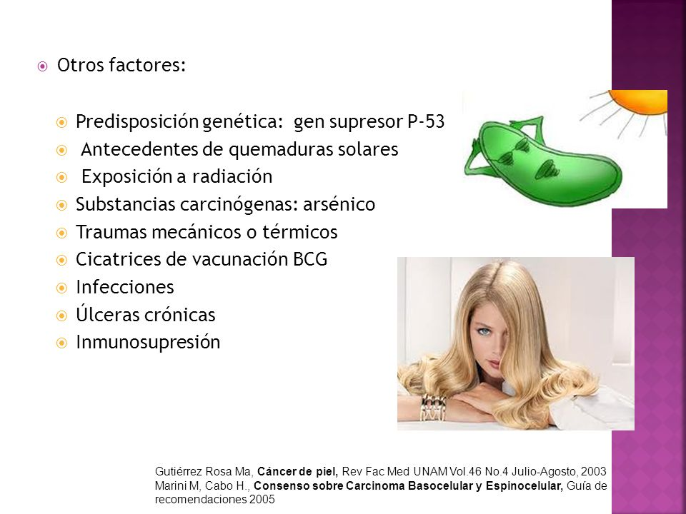 Predisposición genética: gen supresor P-53