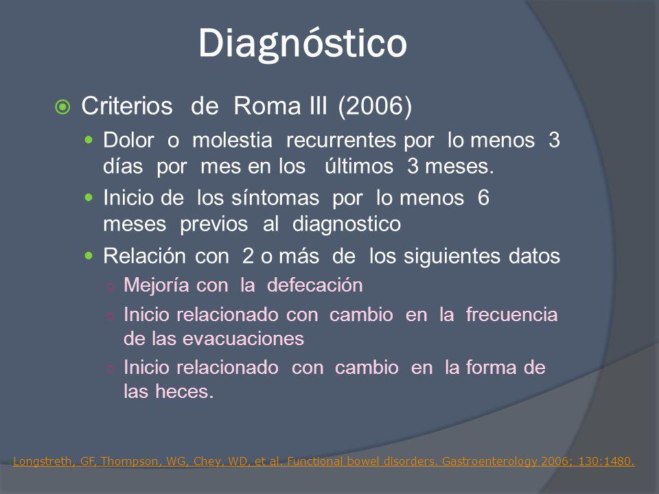Diagnóstico Criterios de Roma III (2006)