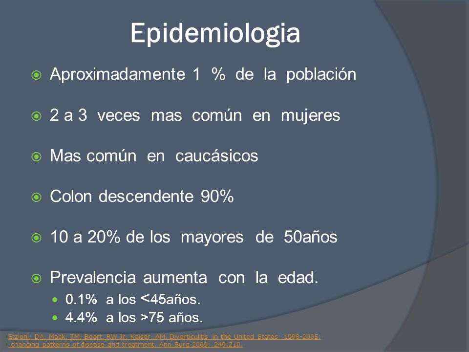 Epidemiologia Aproximadamente 1 % de la población
