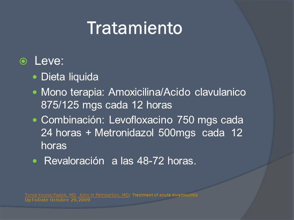 Tratamiento Leve: Dieta liquida