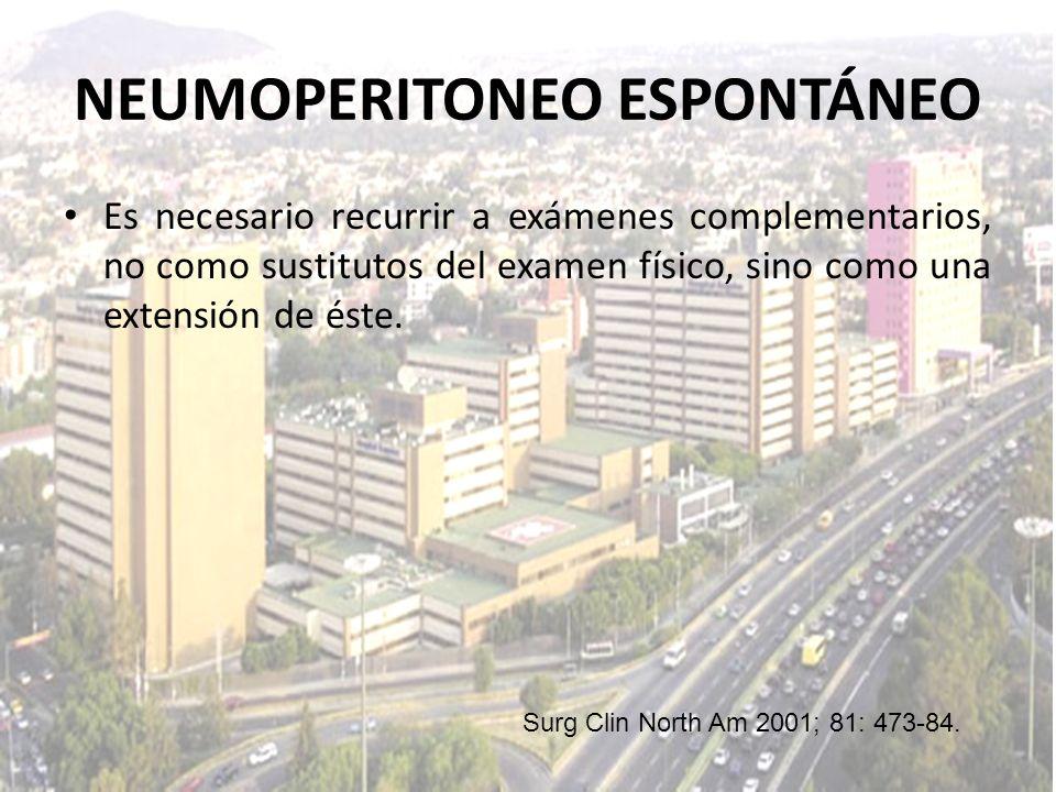 NEUMOPERITONEO ESPONTÁNEO