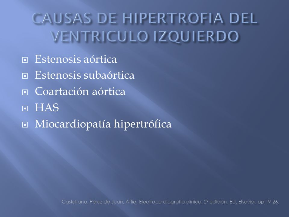 CAUSAS DE HIPERTROFIA DEL VENTRICULO IZQUIERDO