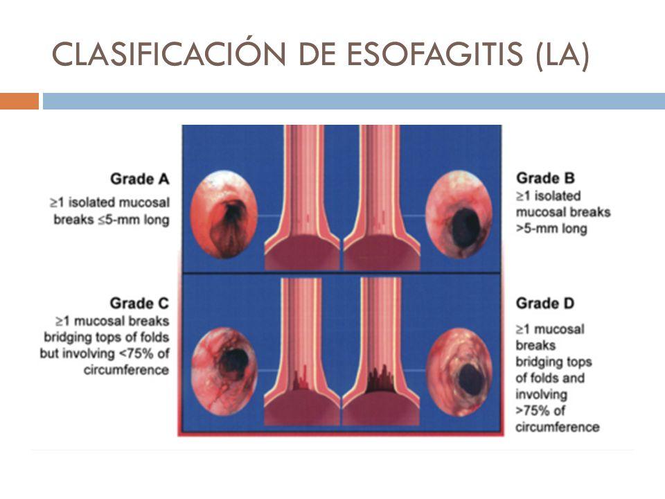 CLASIFICACIÓN DE ESOFAGITIS (LA)
