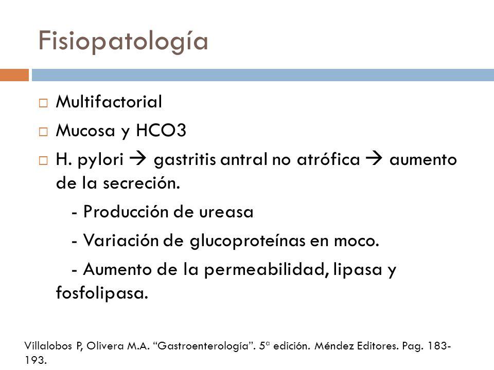 Fisiopatología Multifactorial Mucosa y HCO3