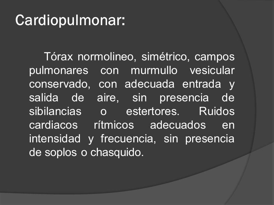 Cardiopulmonar: