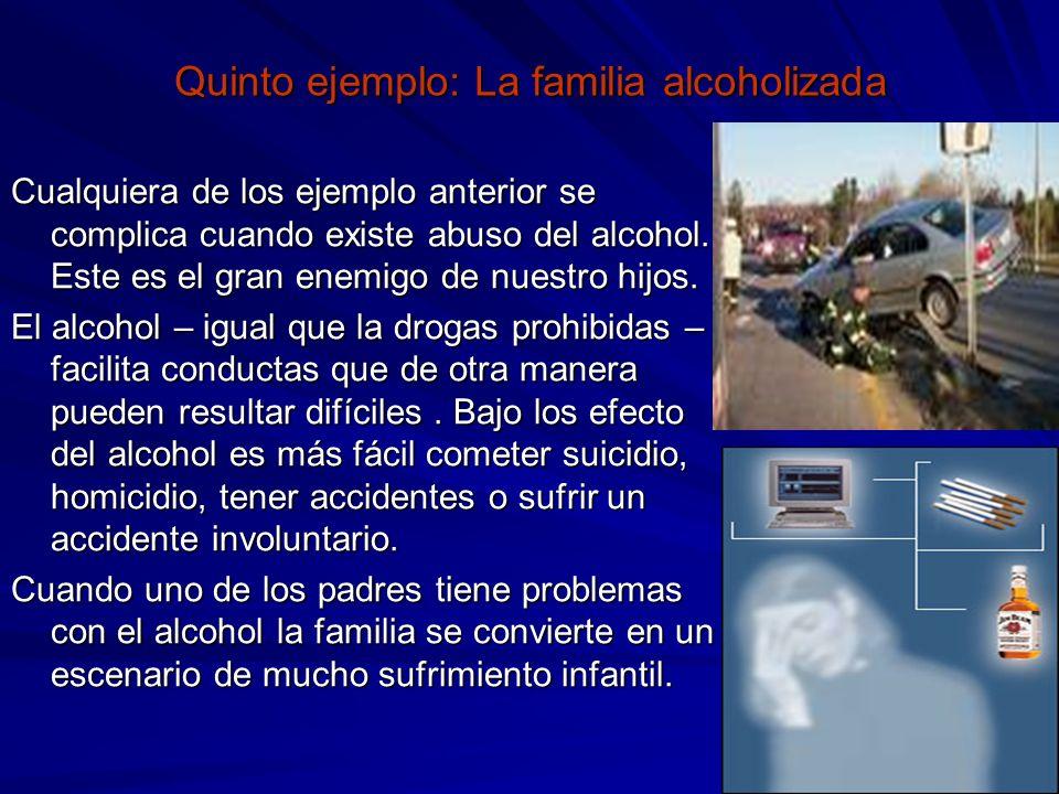 Quinto ejemplo: La familia alcoholizada
