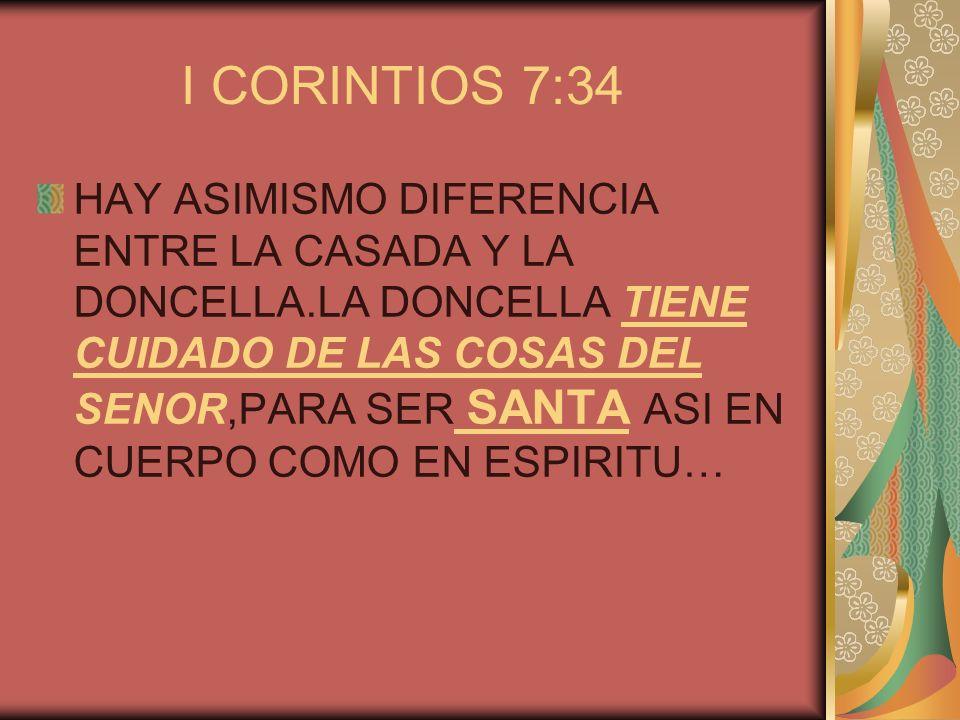 I CORINTIOS 7:34