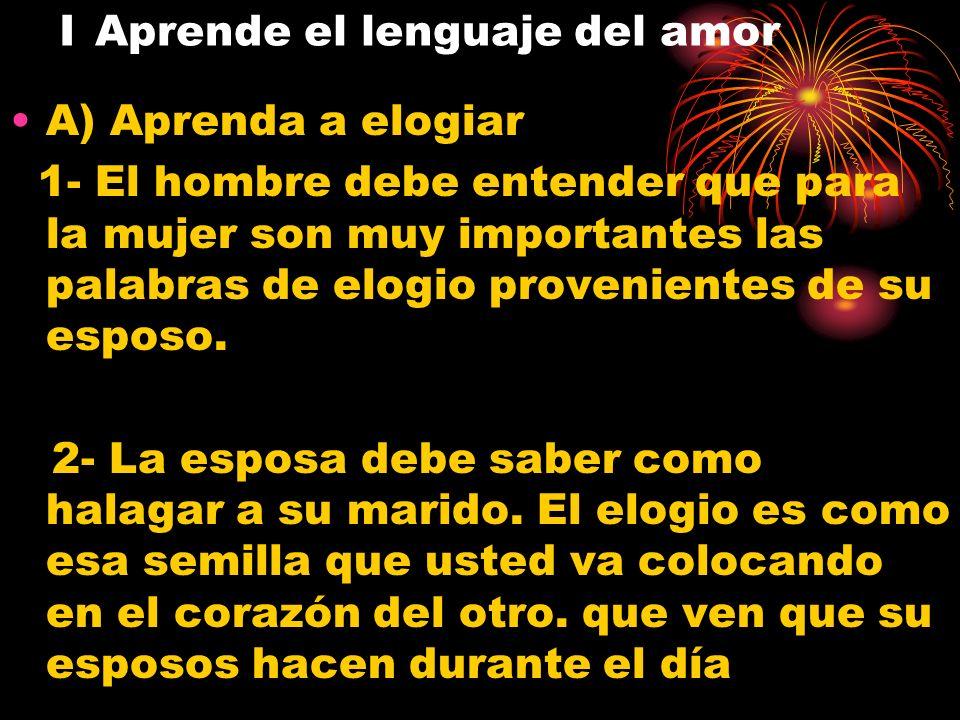I Aprende el lenguaje del amor