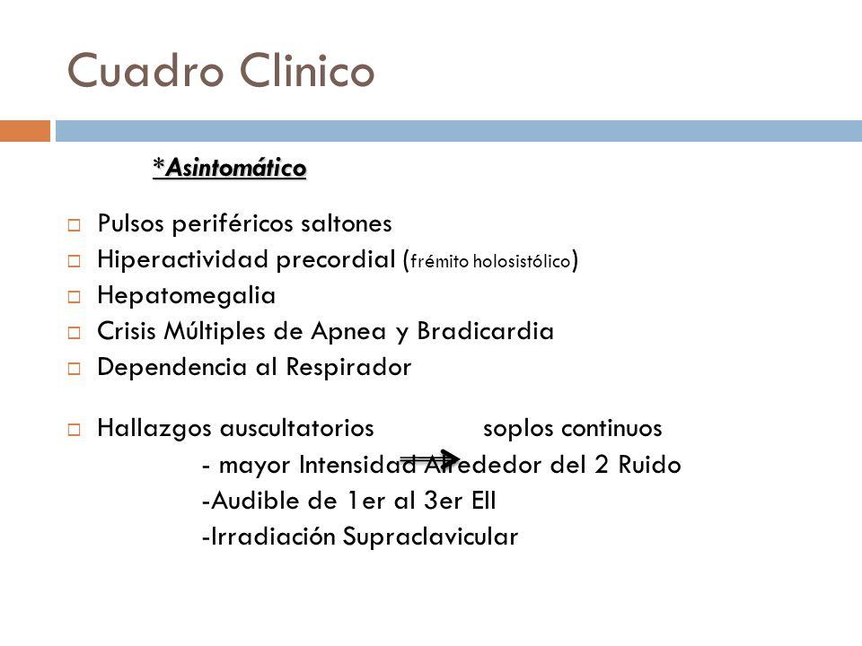 Cuadro Clinico Cuadro clinico *Asintomático