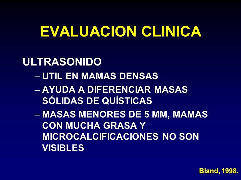 EVALUACION CLINICA ULTRASONIDO UTIL EN MAMAS DENSAS