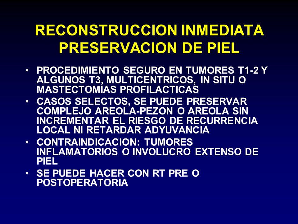 RECONSTRUCCION INMEDIATA PRESERVACION DE PIEL