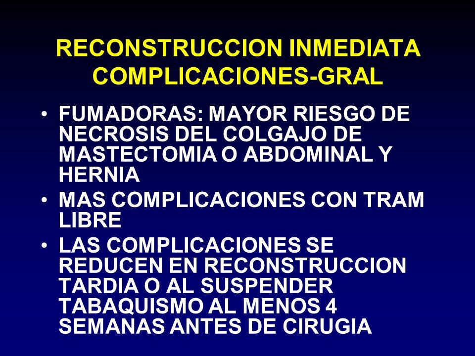 RECONSTRUCCION INMEDIATA COMPLICACIONES-GRAL