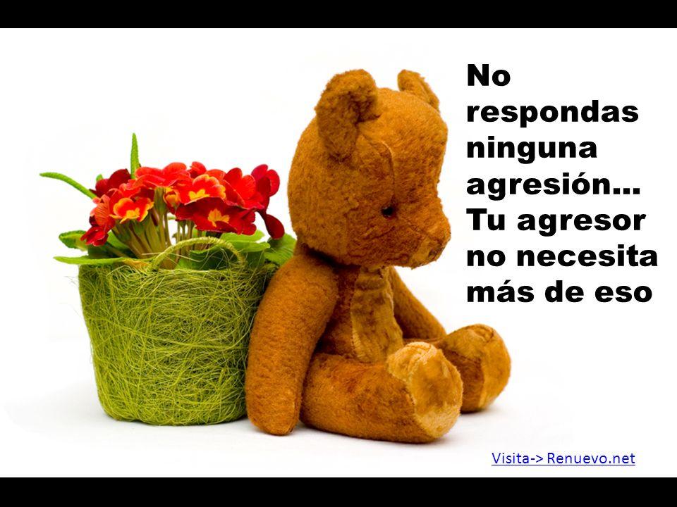 No respondas ninguna agresión...