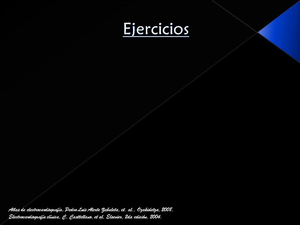 EjerciciosAtlas de electrocardiografía, Pedro Luis Alerte Zabaleta, et. al., Ozakidetza, 2008.