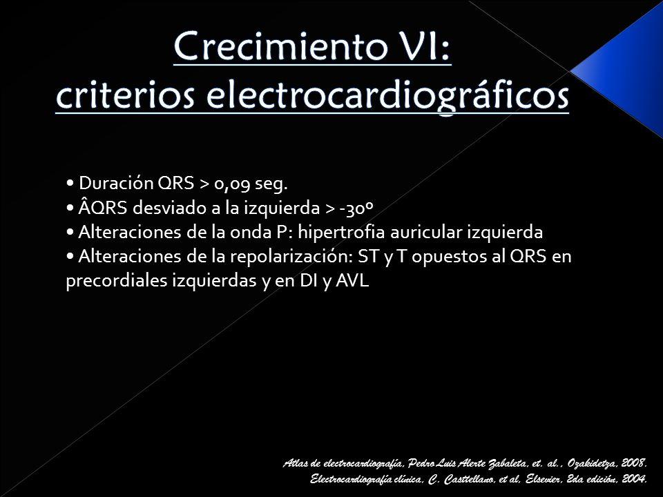 Crecimiento VI: criterios electrocardiográficos