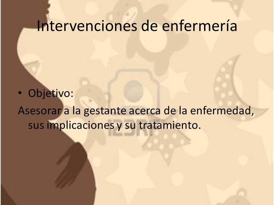Intervenciones de enfermería