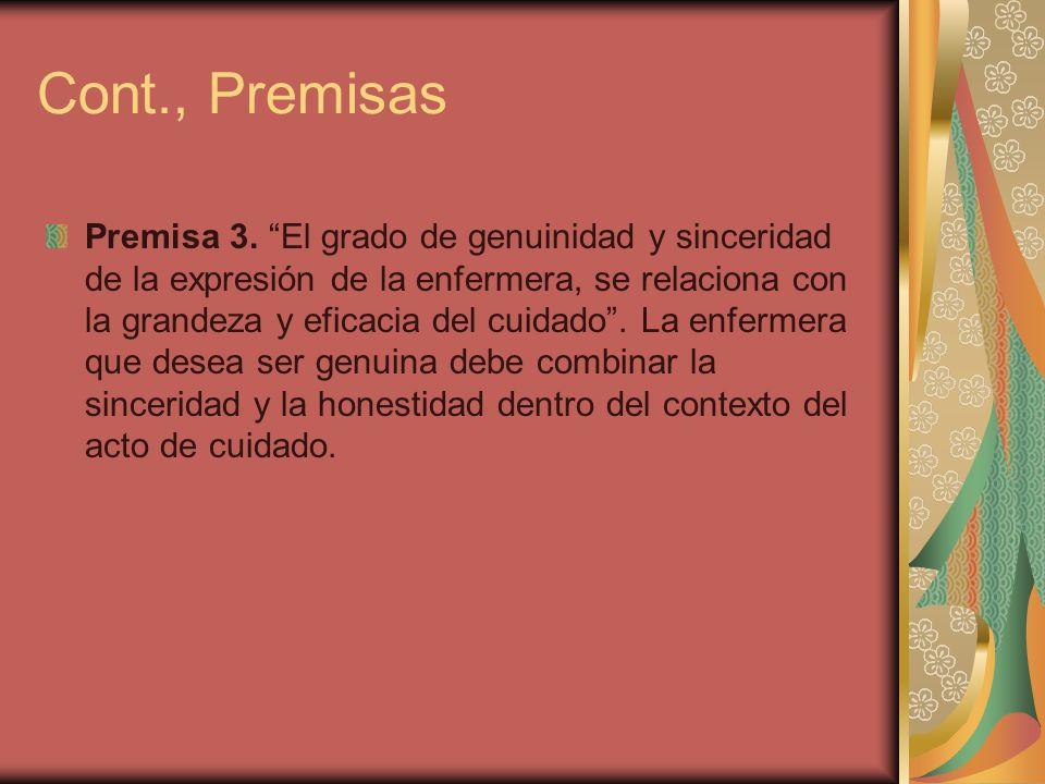 Cont., Premisas