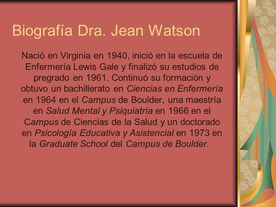 Biografía Dra. Jean Watson