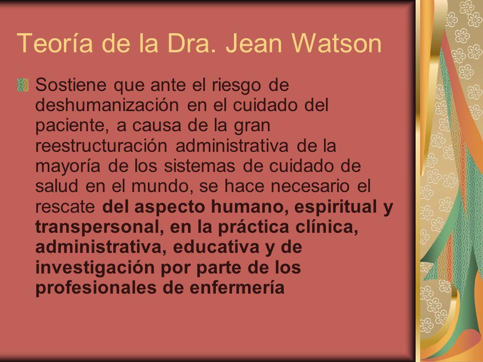 Teoría de la Dra. Jean Watson