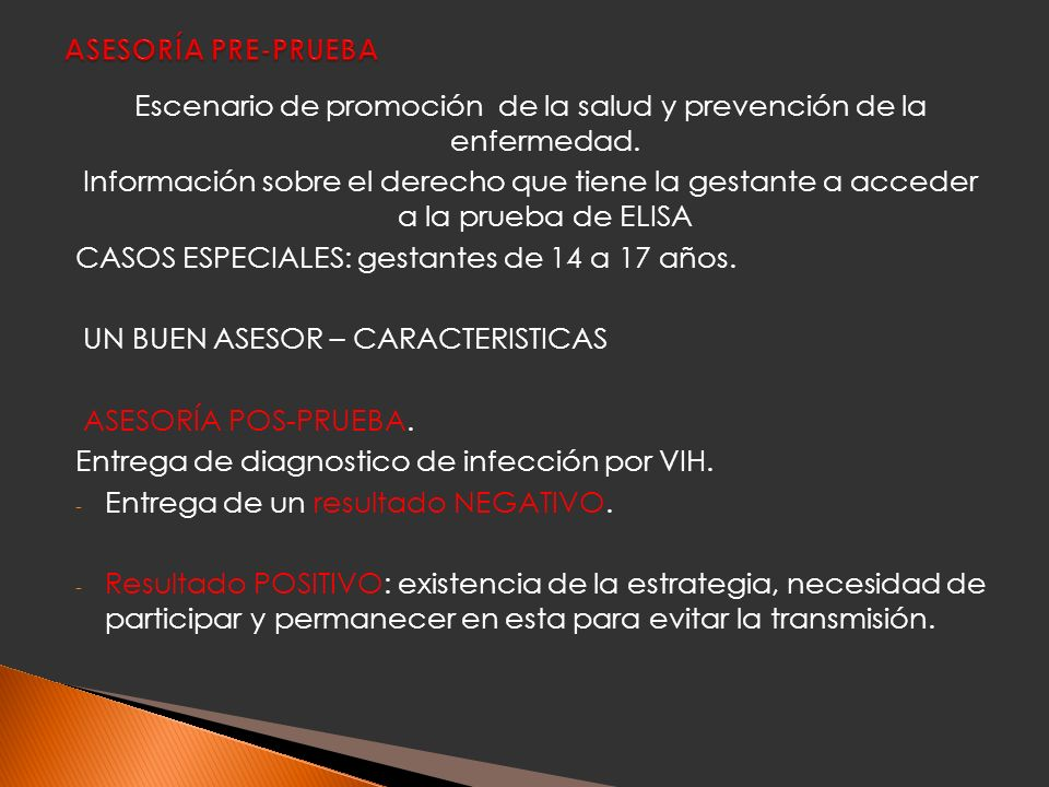 Escenario de promoción de la salud y prevención de la enfermedad.