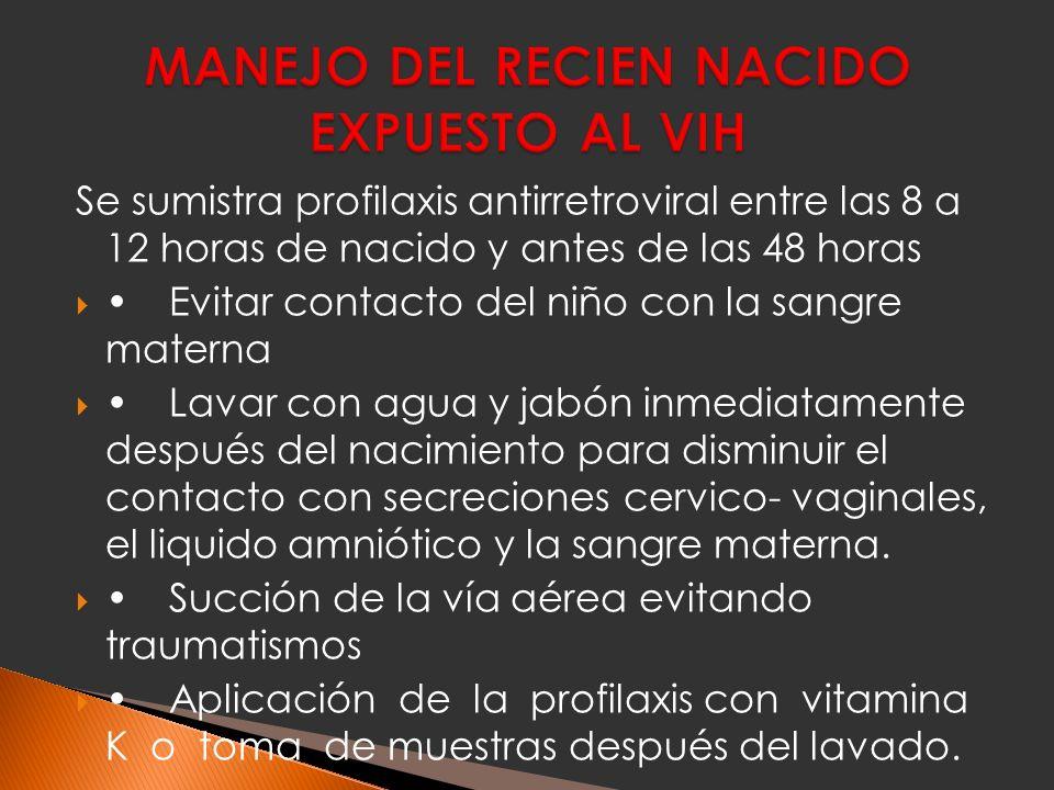 MANEJO DEL RECIEN NACIDO EXPUESTO AL VIH