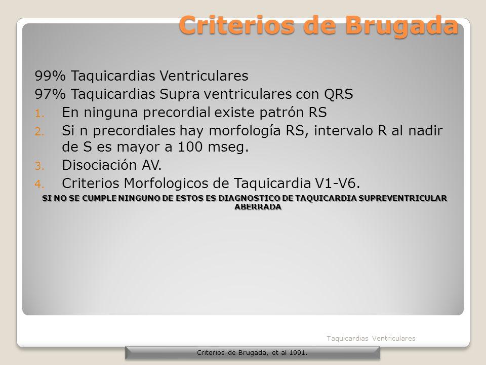 Criterios de Brugada, et al 1991.