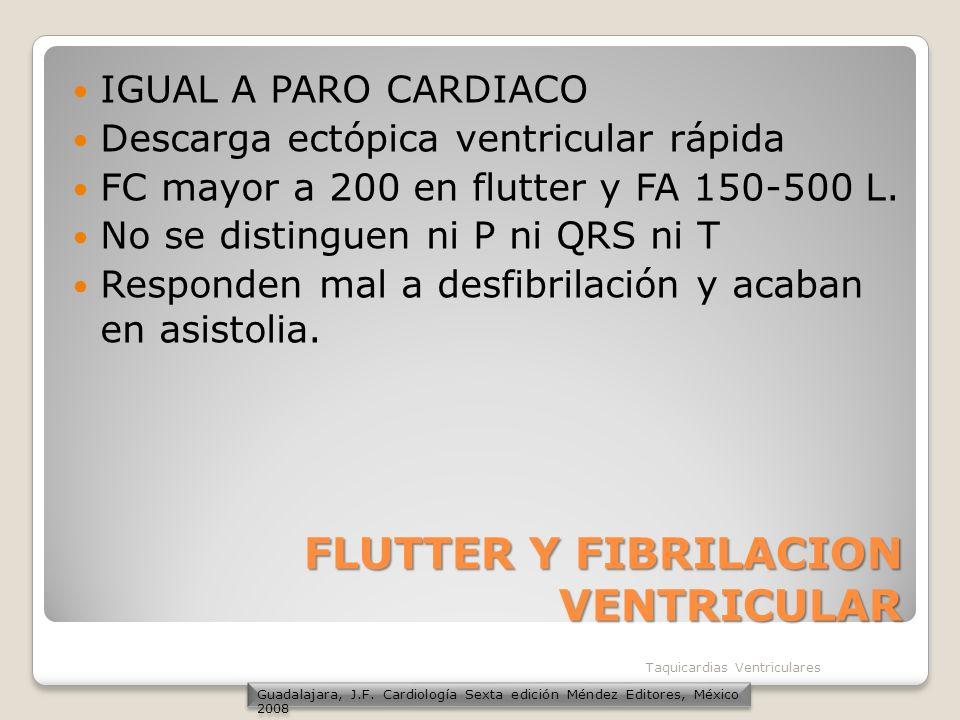 FLUTTER Y FIBRILACION VENTRICULAR