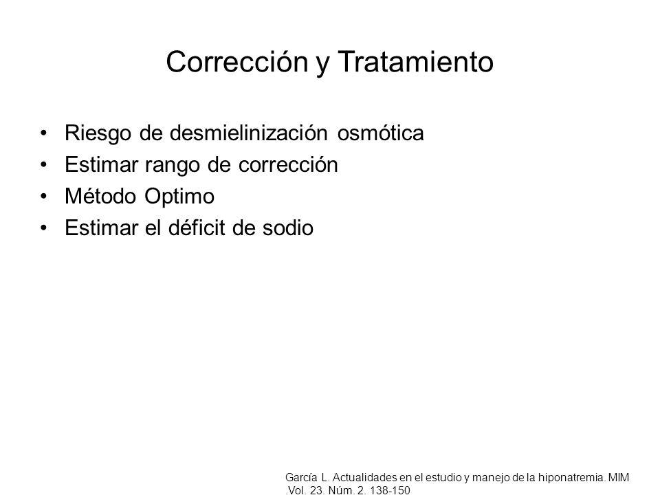 Corrección y Tratamiento