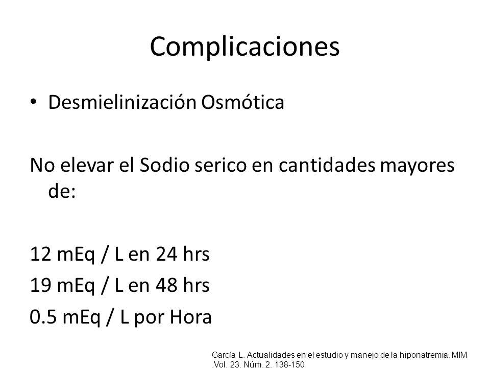 Complicaciones Desmielinización Osmótica