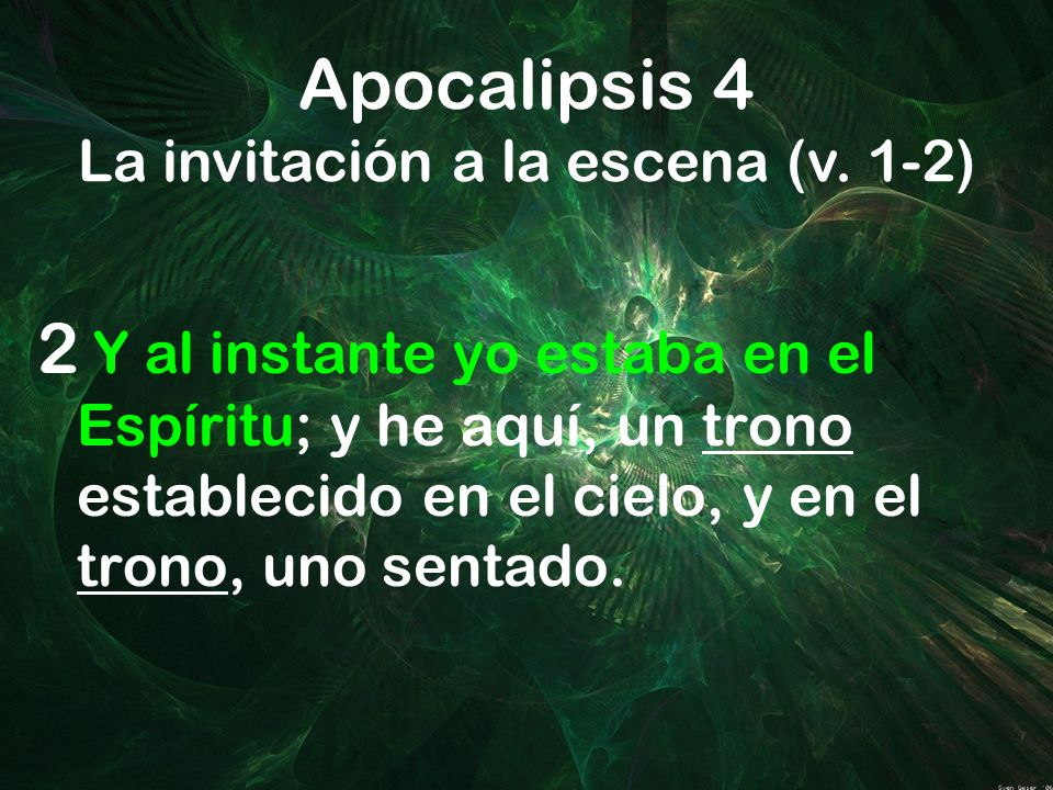 Apocalipsis 4 La invitación a la escena (v. 1-2)
