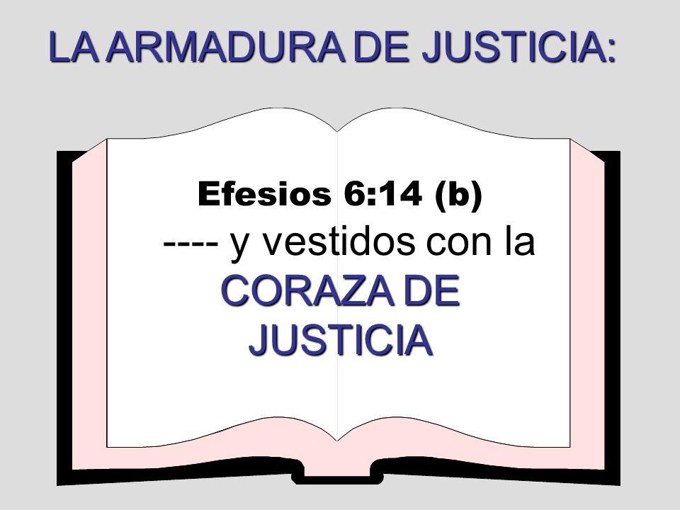 LA ARMADURA DE JUSTICIA:
