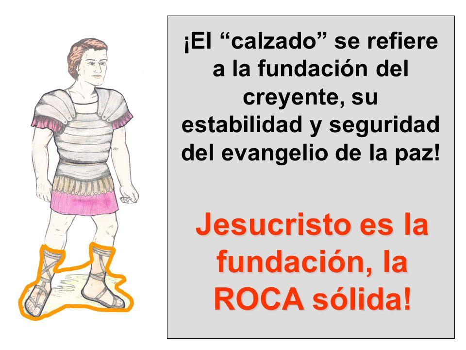 Jesucristo es la fundación, la ROCA sólida!