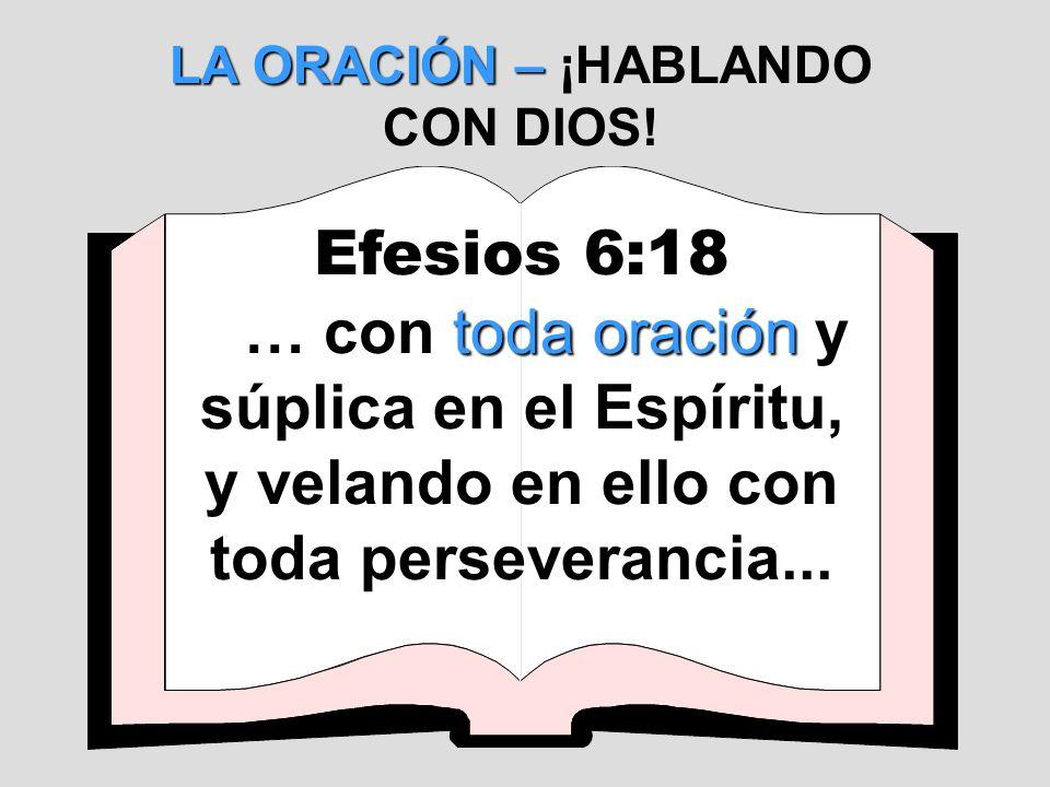 LA ORACIÓN – ¡HABLANDO CON DIOS!