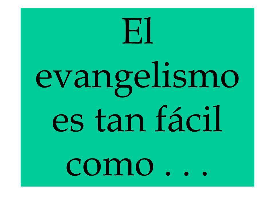 El evangelismo es tan fácil como . . .
