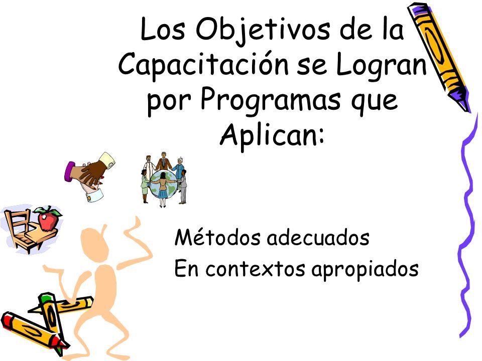 Los Objetivos de la Capacitación se Logran por Programas que Aplican: