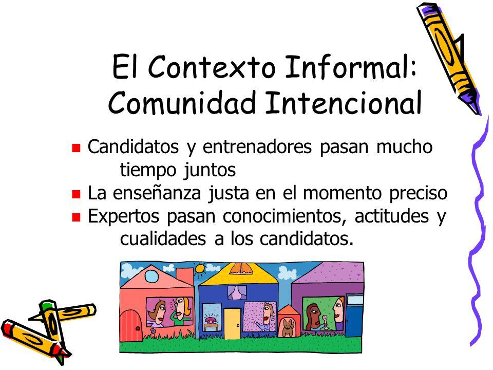 El Contexto Informal: Comunidad Intencional