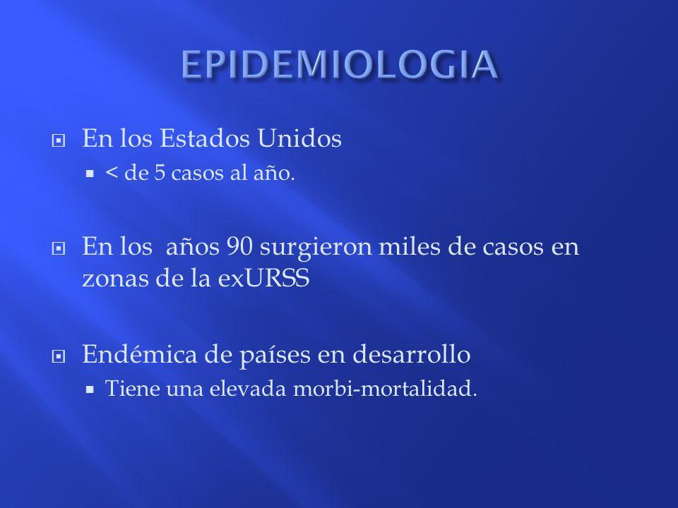 EPIDEMIOLOGIA En los Estados Unidos