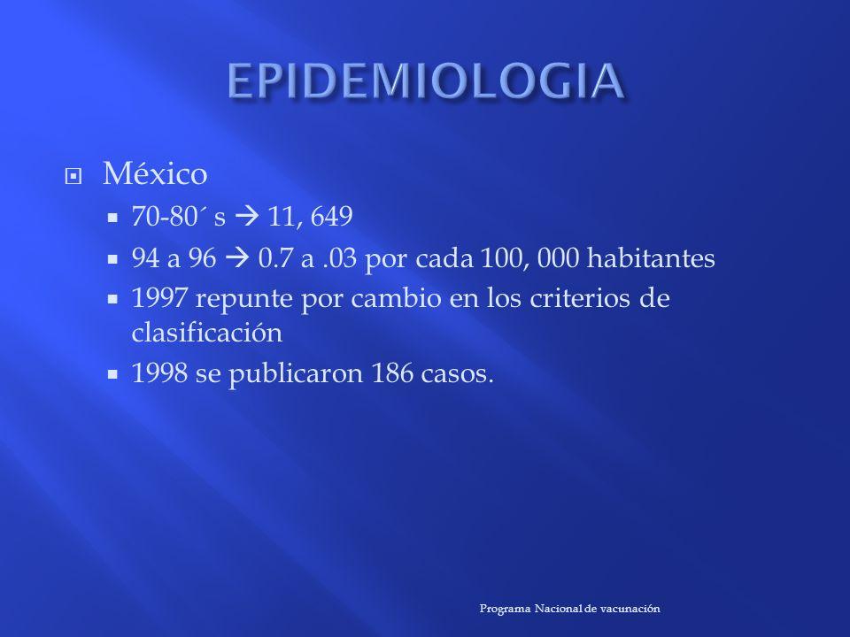 EPIDEMIOLOGIA México 70-80´ s  11, 649