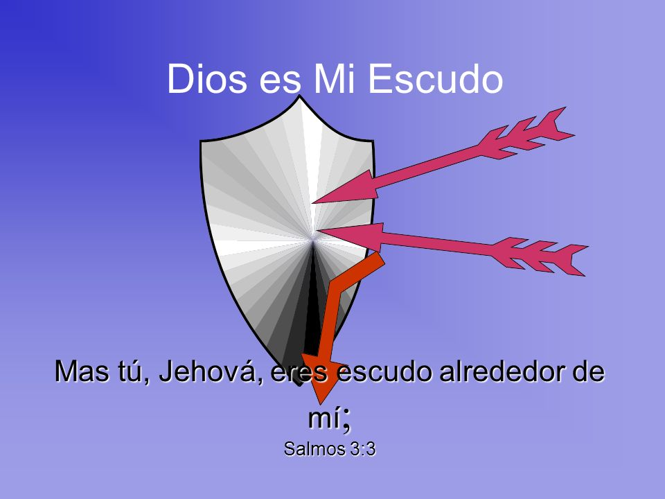 Mas tú, Jehová, eres escudo alrededor de mí; Salmos 3:3